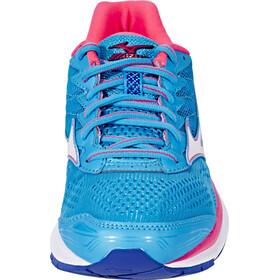 Mizuno Wave Rider 20 Running Shoes Women Atomic Blue/White/Diva Pink